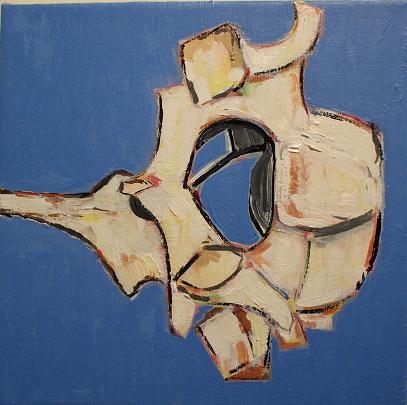 """Bovine Bones #3  8""""x8""""  oil on linen"""
