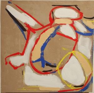 "Jim R Randall Artwork B.B. #20 10""x10"" oil on paper by Jim R. Randall"